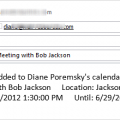 Send an email when you add an appointment to your calendar