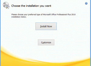 Choose Install Now for the default installation or Customize to select the programs