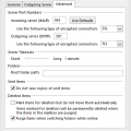 Configuring More Email Account Settings