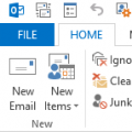 Customize the Outlook Toolbar, Ribbon or QAT